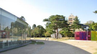 金沢21世紀美術館の周囲で芝生を張り替え